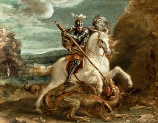 """Hans von Aachen """"St. George slaying the dragon"""""""
